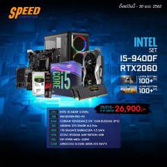 INTEL COMSET I5-9400F/ZOTAC RTX2060/16GB BUS2666/SSD256+1TB 3.5