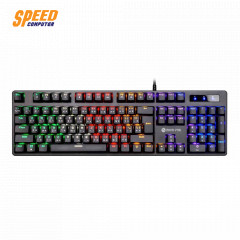 NEOLUTION E-SPORT KEYBOARD MYSTIC RAINBOW COLORS LED BACKLIGHTING BLUE SW THAI