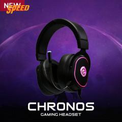 NEOLUTION E-SPORT GAMING HEADSET CHRONOS BLACK RGB LED VIRTUAL 7.1