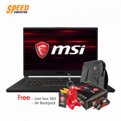 MSI GS65 9SD-1094TH NOTEBOOK i7-9750H/RAM 8GB DDR4/512 GB SSD PCIe M.2/GTX 1660 Ti 6 GB/15.6 FHD/WINDOWS 10/BLACK