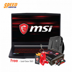 MSI GF65 9SD-014TH THIN NOTEBOOK I7-9750H/RAM 8 GB/SSD 512 GB/GTX1660TI 6 GB/WIN10