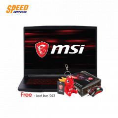 MSI GF63-9SC-296TH NOTEBOOK I7-9750H/RAM 8GB DDR4/512 GB SSD PCIE M.2/15.6 INCH FHD IPS/ GEFORCE GTX 1650 MAX-Q 4GB/WINDOWS10/BLACK