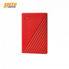 WESTERN HARDDISK EXTERNAL 4TB 2.5 MY PASSPORT WDBPKJ0040BRD-WESN RED USB3.2 GEN1 3YEAR