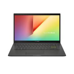 ASUS S413FQ-EB045TS NOTEBOOK I5-10210U/DDR4 8G[ON BD.]/512G PCIE G3X2 SSD/MX350 2GB/14 FHD WV,250NITS,NTSC:45%-NB/WIFI6(GIG+)(11AX)2*2/Win10/Backlight KB/BACKPACK/Office H&S/INDIE BLACK
