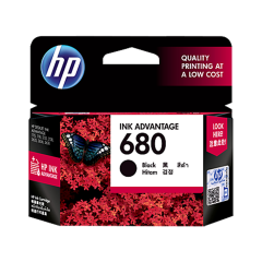HP 680 BLACK INK AVANTAGE CARTRIDGES (F6V27AA)