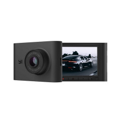 YI-SMART-DASH-CAM-NIGHTSCAPE 140ULTRA WIDE ANGLE ALL-GLASS LENS, IMAGE SENSOR SONY, NIGHT VIEW F1.8 APERTURE, 2.4 INCHNT96660 PROCESSOR RAM 2GB FLASH 128MB, WIFI, IOS/ANDROID,APP SUPPORT.