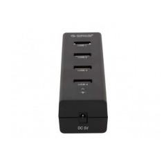 ORICO H4013-U3 BK HUB USB 3.0  4PORT SUPER SPEED POWER ADAPTER  10W DATA CABLE 3.3   2YEAR