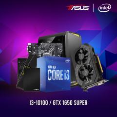 INTEL CPU I3-10100,ASUS H410M-K,RAM16GBBUS2666,SSD 480GB 2.5,ASUS GTX1650S,CV450,NX100