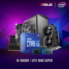 INTEL CPU I5-10400F,H410M-E,RAM16GBBUS2666,SSD500GBM.2,GTX1660S,CV550,NX220