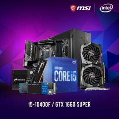 INTEL CPU I5-10400F,B460M MORTAR,RAM16GBBUS2666,SSD500GBM.2,GTX1660SUPER,CV550,MAG 010X RGB