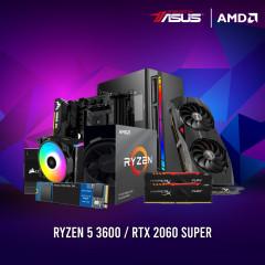 AMD CPU RYZEN5 3600,B450M,RAM16GBBUS3200 RGB,SSD500GBM.2,RX5500XT,CV650,NX400,GL-D56A
