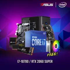 INTEL CPU I7-10700,Z490-P,RAM16GBBUS3200,SSD480GBM.2,RTX2060S,CV650,175R,GL-X4S