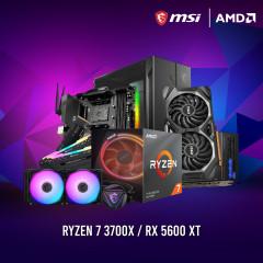 AMD CPU RYZEN7 3700X,B450,RAM16GBBUS3200 RGB,SSD500GBM.2,RX5600XT,750W,MAG 010X RGB,MAG240R