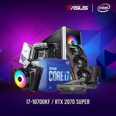 INTEL CPU I7-10700KF,Z490-A,RAM16GBBUS4400,SSD500GBM.2,RTX2070S,750W,LEVEL20MT,GL-D56A