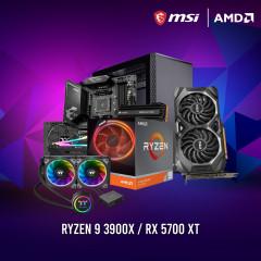 AMD CPU RYZEN9 3900X,B550GAMING EDGE WIFI,RAM16GBBUS3200 RGB,MP600 1TB,RX5700XT MECH OC,GF1 850W,S300TG,FLOE240