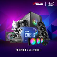 INTEL CPU I9-10900F,Z490-A,RAM16GBBUS4400,SSD1TBM.2,RTX2080TI,PF1 850W,VIEW51,ML360L ARGB