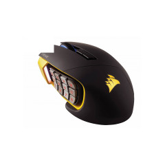 CORSAIR GAMING MOUSE SCIMITAR PRO BLACK RGB OPTICAL SENSOR 100-16000 DPI