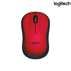 LOGITECH M221 RED MOUSE SILEN SILEN WIRELESS 2.4 GHZ