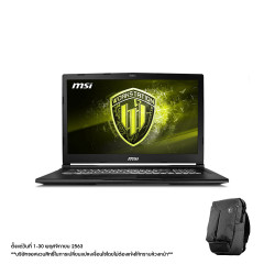 MSI WE65 9TJ-035TH NOTEBOOK I7-9750H+HM370/DDR IV 16GB*2 (2666MHz)/15.6 FHD, IPS-Level/Quadro T2000, 4GB GDDR5/512GB NVMe PCIe Gen3x4 SSD +1TB/WIN10/WIFI6/Workstation Air Backpack