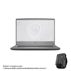 MSI WF65 10TI-617TH NOTEBOOK I7-10750H+HM470/DDR IV 16GB (2666MHz)/15.6 FHD/Quadro T1000, 4GB GDDR6/512GB NVMe PCIe Gen3x4 SSD +1TB/WIFI6/WIN10/Workstation Air Backpack