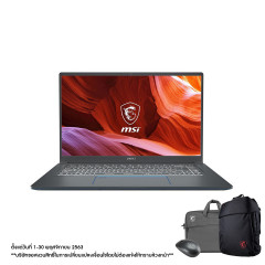MSI PRESTIGE 15 A10SC-016TH NOTEBOOK i7-10710U/1TB NVMe SSD/16GB (8*2 2666MHz)/GTX1650 Max-Q,GDDR5 4GB/15.6 FHD (1920*1080), IPS-Level Thin Bezel, close to 100%sRGB/WIN10/WIFI6/Sleeve Bag_PS/Mouse