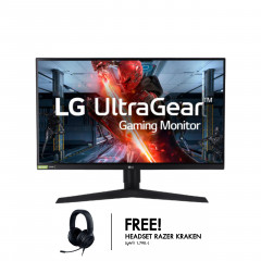 LG MONITOR 27GN750-B 27IPS HDR 240Hz G-SYNC-COM 1920X1080 1MS 16:9 HDMI DVI 3YEAR