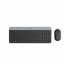 LOGITECH MK470 SLIM BLACK KEYBOARD + MOUSE SLIM COMBO//
