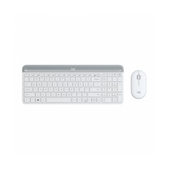LOGITECH MK470 SLIM WHITE KEYBOARD + MOUSE SLIM COMBO//