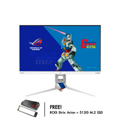 ASUS MONITOR ROG STRIX XG279Q-G GUNDAM EDITION 27 IPS 2K 170Hz 2560X1440 1MS 1000:1 DisplayHDR 400 HDMI2 DPPORT AUDIO OUT 3YEAR