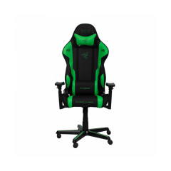 DXRACER GAMING CHAIR RAZER SIRIES BLACK/GREEN 2YEAR WARRANTY