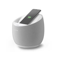 BELKIN G1S0001DQ SOUNDFORM? Elite Hi-Fi Smart Speaker + Qi Wireless Charger 10 + Google Assistant - Chalk White * 2-Flat Pin Power Adapter 2Y