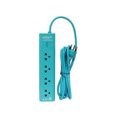 ANITECH-H1134- POWER STRIP 4 SLOT 1 SWITCH 3M. MI