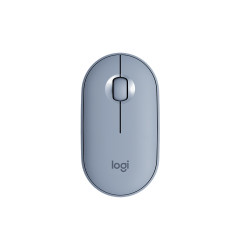 LOGITECH-M350-BLUE MOUSE WIRELESS AND BLUETOOTH // 1YEAR