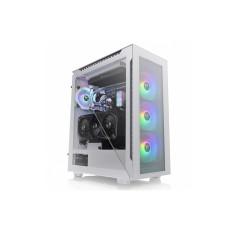 THERMALTAKE CASE Divider 500 TG Snow ARGB/White/Win/SPCC/Tempered Glass*4/120mm ARGB Fan*3/120mm Standard Fan*1/1Y