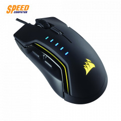CORSAIR GAMING MOUSE GLAIVE RGB OPTICAL SENSOR 16,000 DPI BLACK
