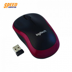 LOGITECH M185 MOUSE WIRELESS RED/BLACK 2.4 GHZ //