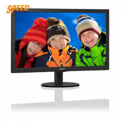 PHILIPS 243V5QHSBA MONITOR 23.6 INC LED VGA, DVI-D, HDMI/BLACK/3year