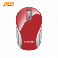LOGITECH M187 MOUSE WIRELESS RED COLOR SMALL //