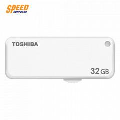 TOSHIBA FLASHDRIVE Yamabiko  32GB (White) (แบบสไลด์)  (U203)