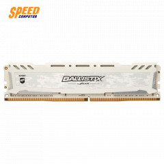 CRUCIAL RAM PC BLS8G4D240FSC BALLISTIX DDR4 8GB BUS:2400MHz UDIMM 1.2V FOR GAMING WHITE COLOR