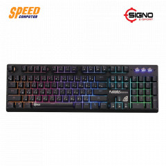 SIGNO KEYBOARD GAMING KB760 RGB RUBBER DROME SW BLACK